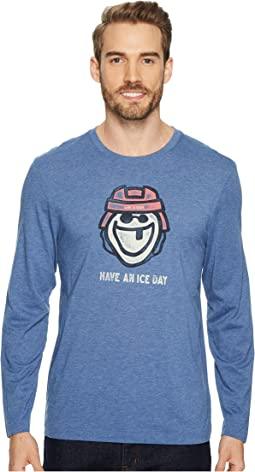 Ice Day Hockey Long Sleeve Cool Tee