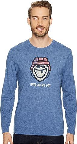 Life is Good - Ice Day Hockey Long Sleeve Cool Tee