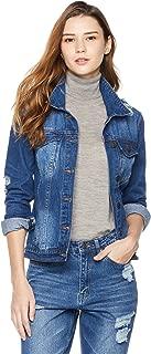 Women's Long Sleeve Button Front Denim Jacket