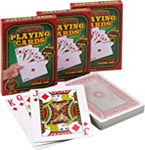 Giant 5 x 7 Inch Playing Cards - (Pack of 3 Decks) Full Big Decks of Jumbo Poker Index Playing Card Set, Each Deck is Perfect for Casino Theme Game Night and Magic Party Supplies