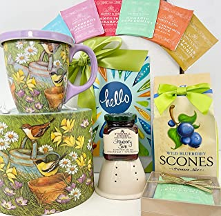 Gourmet Tea and Breakfast Sampler Gift Box Basket - Great All Occasion Birthday Mother's Day Thank You Thinking of You Ann...