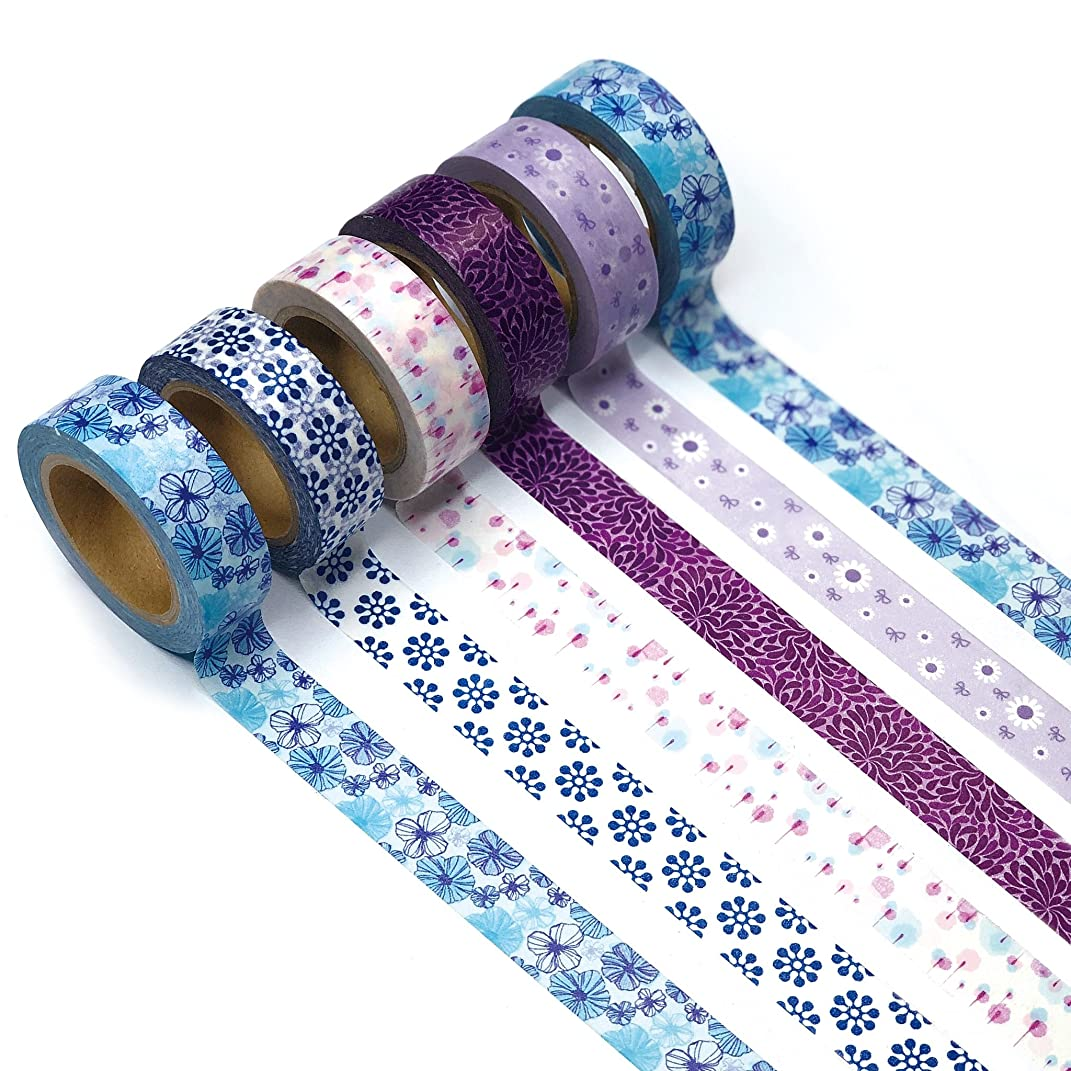 Ultra Premium Washi Tape - Perfect Multi Purpose Colored Masking Tape For Walls, Arts and Crafts, DIY, Scrapbook (Midnight Garden)