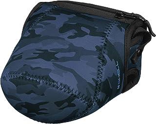 HAKUBA 一眼カメラケース プラスシェル スリムフィット02 カメラジャケット M-140 ネイビーカモ DCS-SF02M140NC
