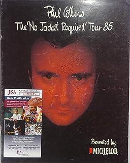 Signed Genesis Phil Collins Autographed Tour Program Certified Jsa # Dd47425