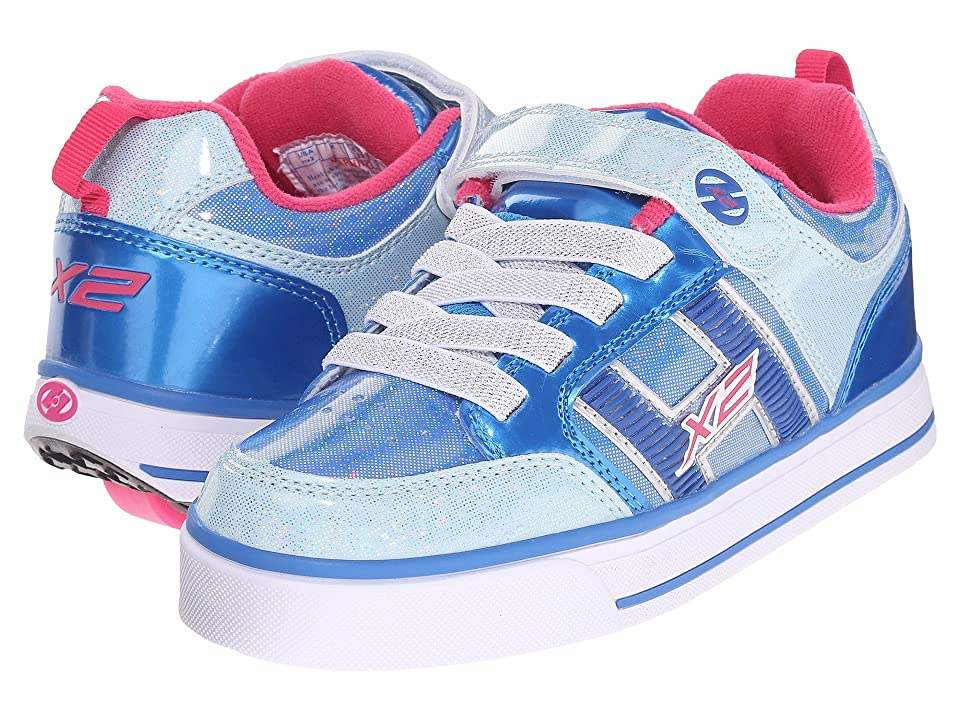 Heelys Bolt Plus X2 (Little Kid/Big Kid) (Ice Blue/Silver/Pink) Girls Shoes