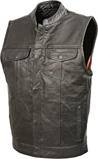 mens buffalo leather vest