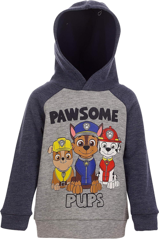 Nickelodeon Paw Patrol Chase, Marshall & Rubble Boys Pullover Fleece Hoodie