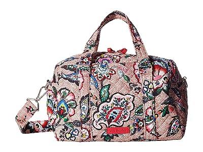 Vera Bradley Iconic 100 Handbag (Stitched Flowers) Satchel Handbags