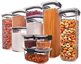 Rubbermaid 1994254 Brilliance Pantry Airtight Food Storage Container BPA free Plastic, Set