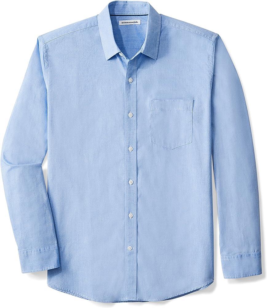 Amazon essentials, camicia per uomo,100% cotone S17AE30000