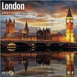 تقويم حائط لندن 2021 بواسطة برايت داي، 30.48 × 30.48 سم، بيج بن يوروبيان ترافيل ديستينيشن
