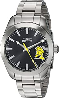 Invicta Men's 'Character Collection' Quartz Stainless Steel Casual Watch, Color:Silver-Toned (Model: 25161)