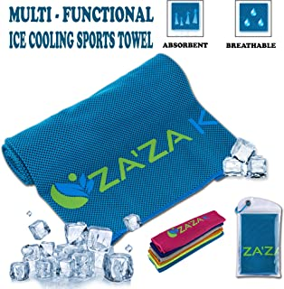 """ZA'ZA K Cooling Towel for Instant Cooling Relief, Cooling Towels for Neck (40""""X12""""), for Women Men Kids Fitness Yoga Worko..."""