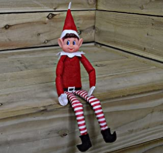 eBuyGB - Confezione da 2 peluche a forma di elfo di Natale, con faccina sorridentale