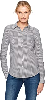 French Connection Women's Eastside Wide Stripe Button Down Top