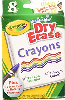 Crayola 98-5200 8CT Dry Erase Crayons (Pack of 2)