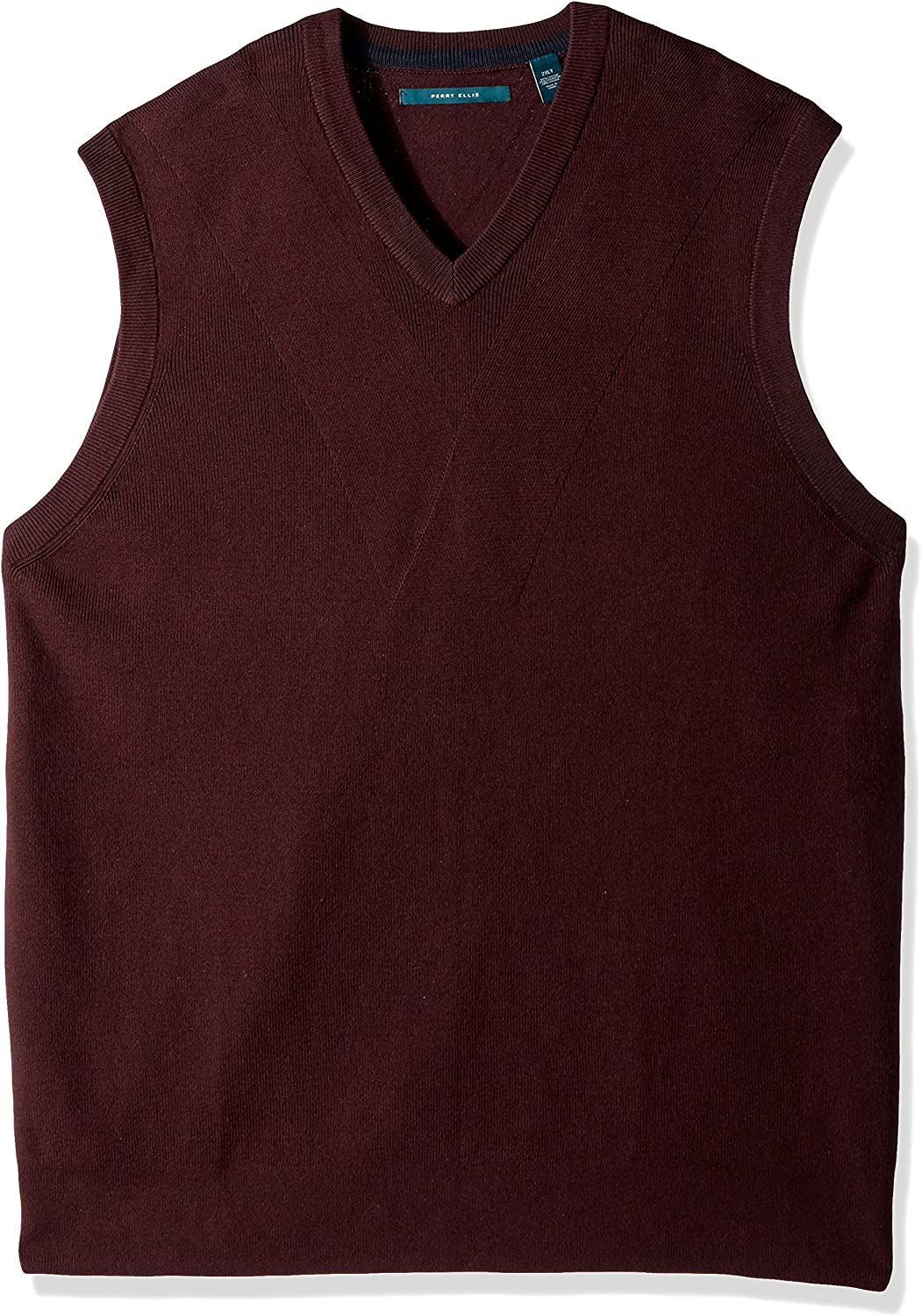 Perry Ellis Men's Big and Tall Pullover V-Neck Sweater Vest