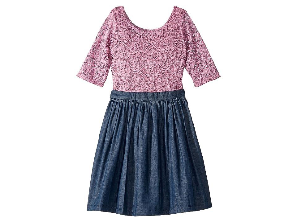 fiveloaves twofish Katherine Dress (Little Kids/Big Kids) (Rose) Girl