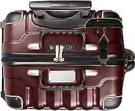 Bundle - 2 items: VinGardeValise 12 Bottle Wine Travel Suitcase with Personalizable nameplate, FlyWithWine Digital Luggage Scale - Burgundy