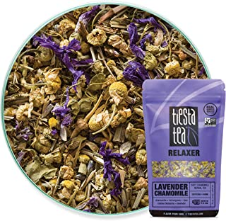 Tiesta Tea Lavender Chamomile, Soft Chamomile Herbal Tea, 30 Servings, 0.9 Ounce Pouch, Caffeine Free, Loose Leaf Herbal Tea Relaxer Blend, Non-GMO