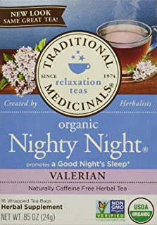 Traditional Medicinals Nighty Night Valerian, 16 Count (Pack of 6)