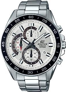 ساعة يد بحركة كوارتز ومؤقت كرونوغراف وسوار من الستانلس ستيل للرجال من كاسيو - EFV-550D-7AVUDF