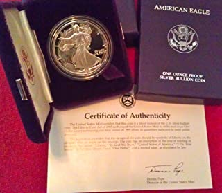 1989 Proof American Eagle Silver Dollar with Original Packaging