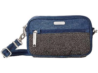 Baggallini Securtex Anti Theft Festival Bag (Steel Blue Antitheft) Cross Body Handbags