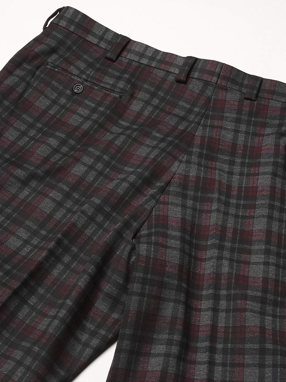 STACY ADAMS 3 Pc. Men's Plaid Modern Fit Suit