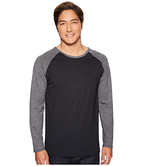 larga para Negro 4Ward Reversible trasera de manga Charcoal ropa raglán Camisa delantera qAxITtwnH
