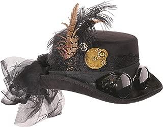 Deluxe Halloween Costume Hat; Black, Velvet 4.5