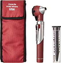 ZetaLife Compact Pocket Size Fiber Optic Otoscope – Maroon Color