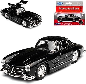 Welly Mercedes Benz 300sl Coupe Schwarz W198 1954 1963 Flügeltürer Ca 1 43 1 36 1 46 Modell Auto Mit Individiuellem Wunschkennzeichen Spielzeug