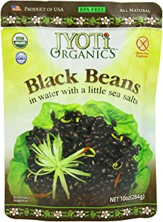 Jyoti Organic Black Beans, 10 Ounce (Pack of 6)