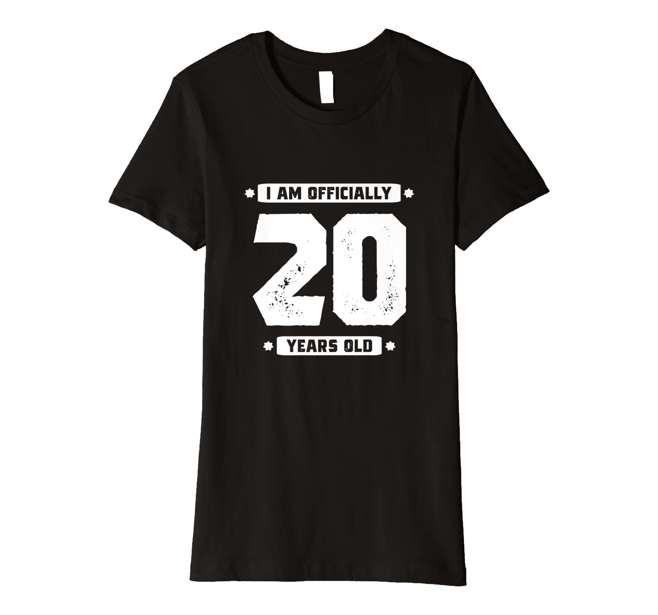 Amazon 20th Birthday Shirt Daughter 20 Years Girls Gift Tee Age Clothing