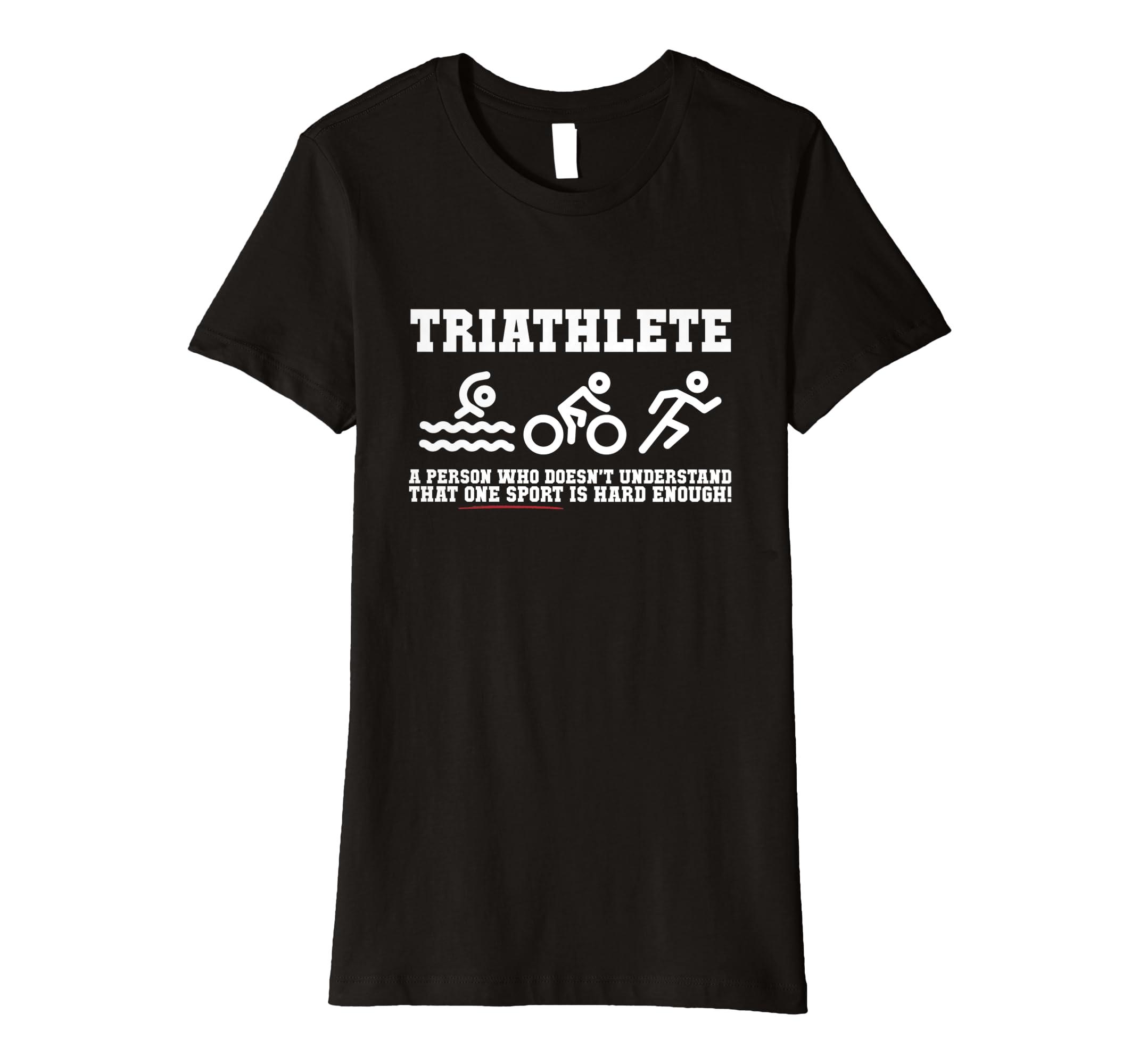 4e4c6e27 Amazon.com: Triathlon Shirt - Swim Bike Run Triathlete Tee: Clothing