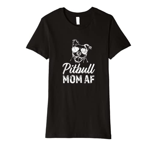 8c997df29 Image Unavailable. Image not available for. Color: Womens Pitbull Mom AF  funny women's pit bull dog gift shirt