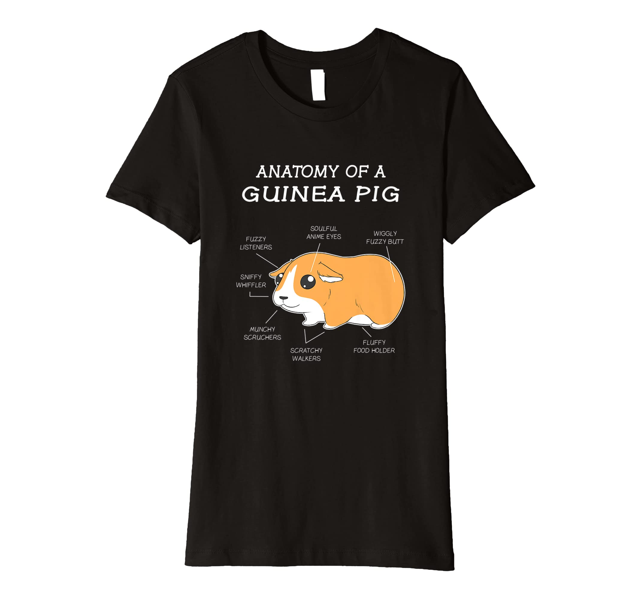 Amazon Anatomy Of A Guinea Pig Funny Chubby Pet T Shirt Clothing