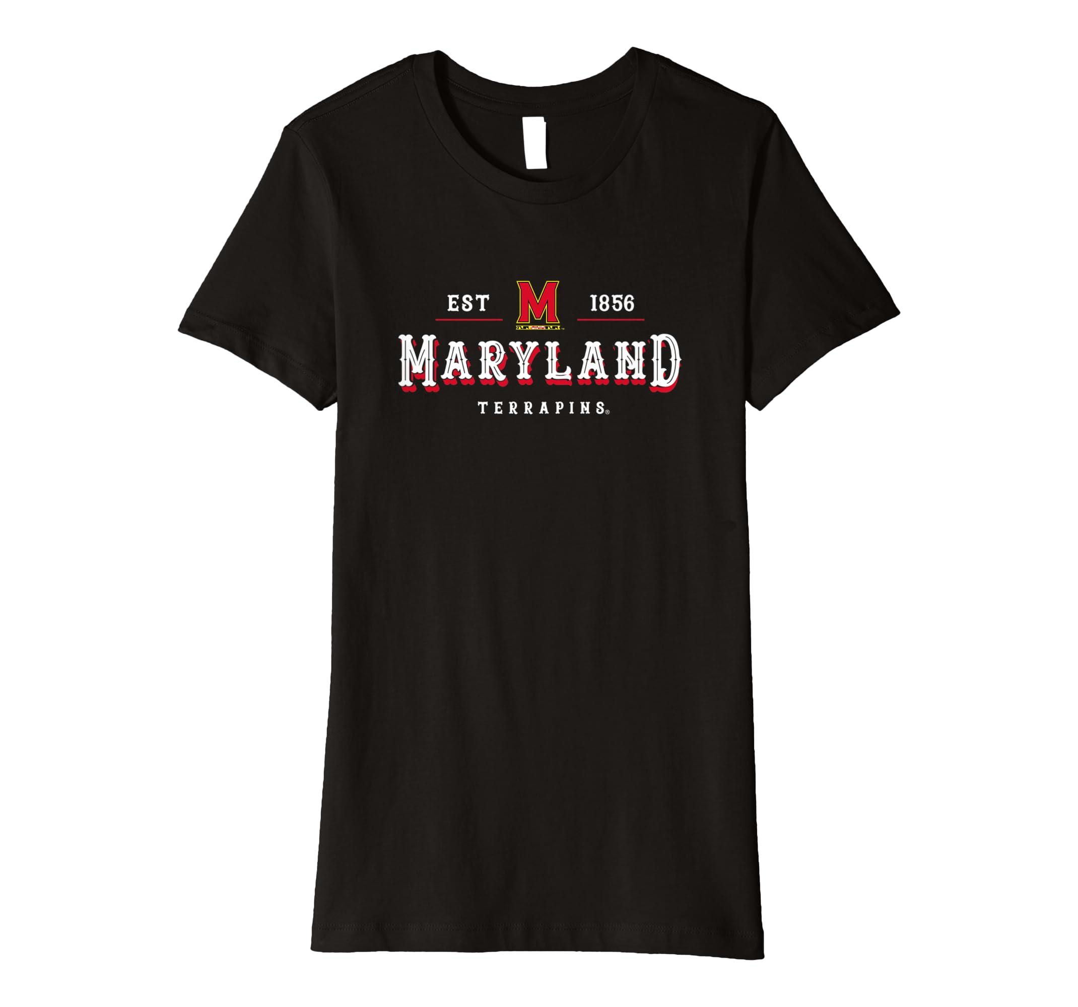 Amazon.com  Womens University of Maryland Terrapins TERPS NCAA T-Shirt  RYLMD12  Clothing 3ebc4fadd