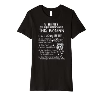 a77c0ce38 Amazon.com: Womens Women 5 Things about This Crazy Lee Lee Premium T ...
