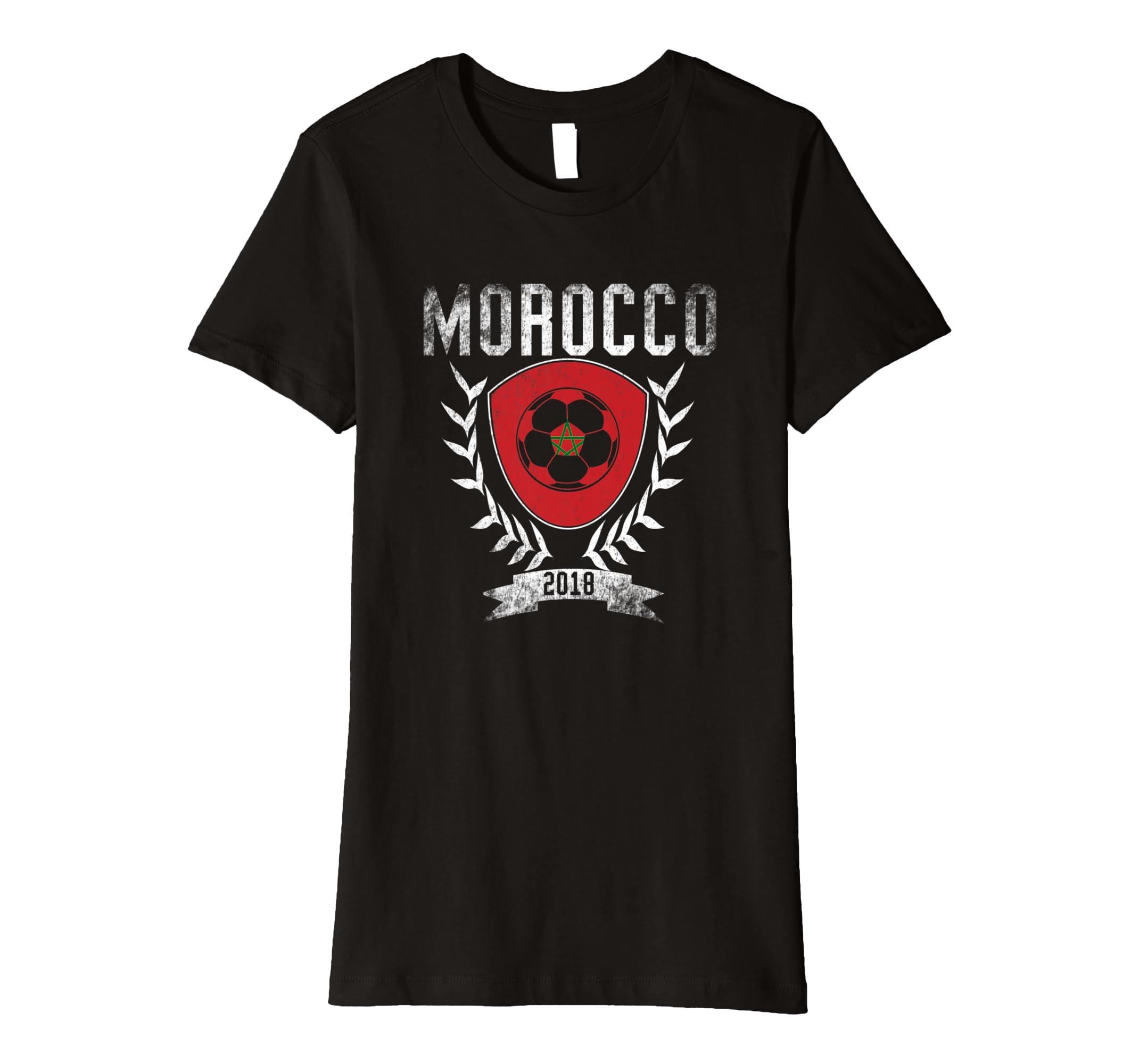2b936e25567 Amazon.com: Moroccan Football Cup 2018 T-Shirt - Morocco Soccer Jersey:  Clothing