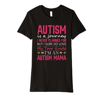 fadaf28b0750a Amazon.com: Womens Autism Awareness Shirts Women Autism Mama kids ...