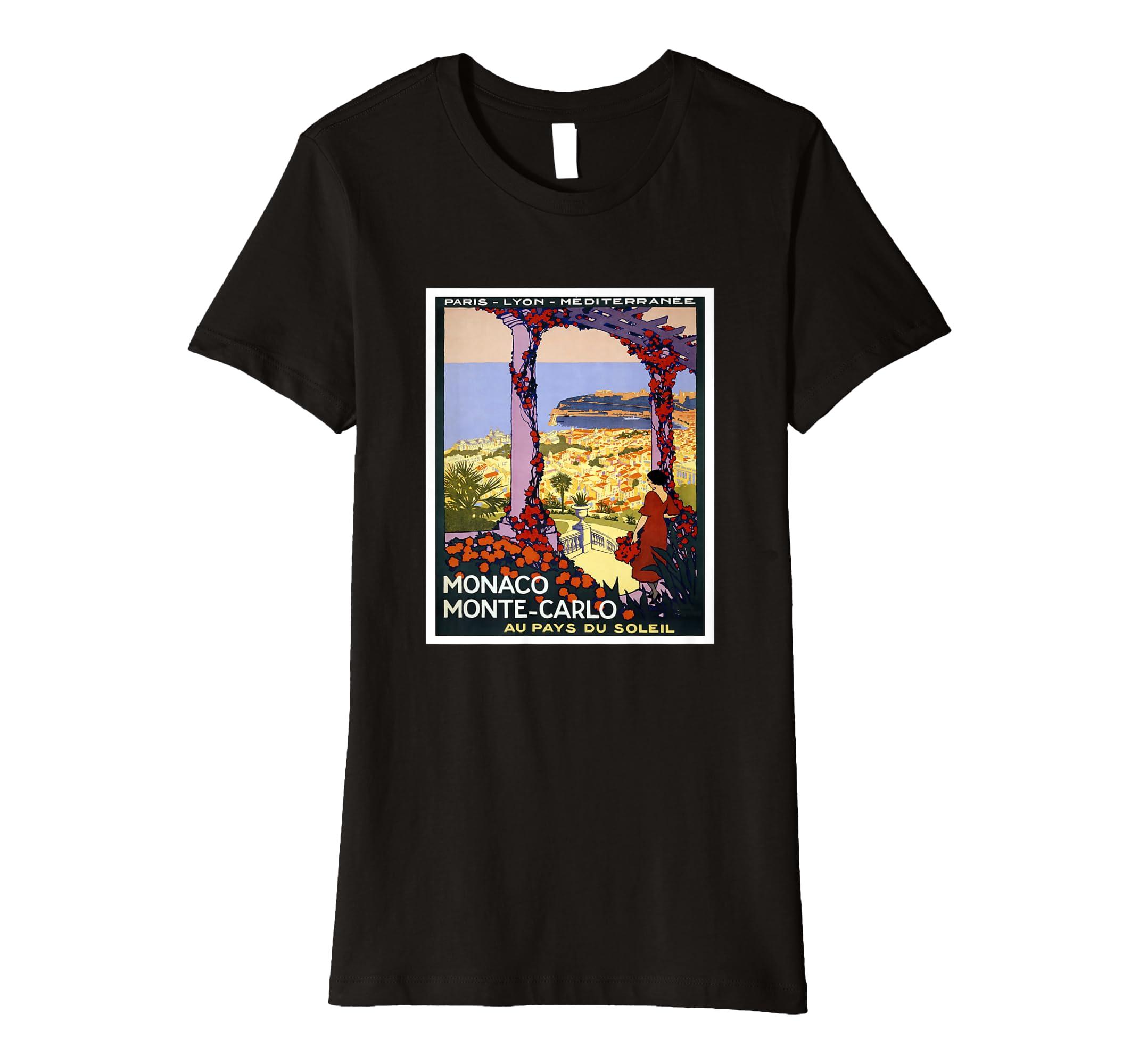 00fe3b9f974cda Amazon.com: Monaco Monte-Carlo T Shirt: Clothing