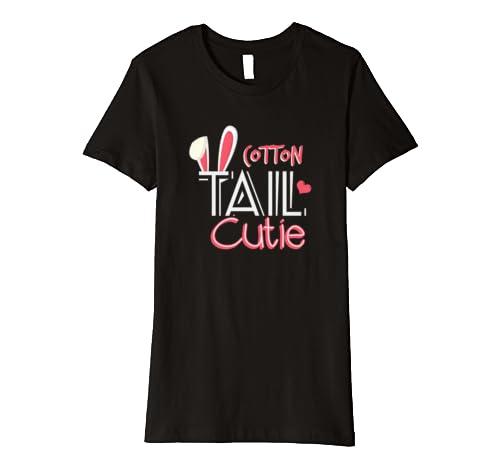 f57eb5c6ba07 Amazon.com  Cotton Tail Cutie Easter T-Shirt  Clothing