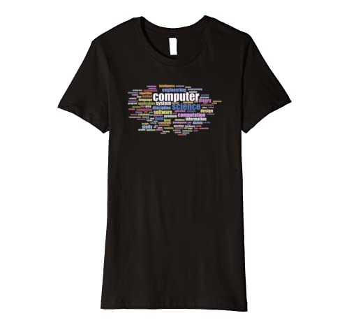 Informatik Wortwolke T Shirt 100 Computer Science Begriffe Amazon