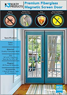 Best magnetic fly screen french doors Reviews