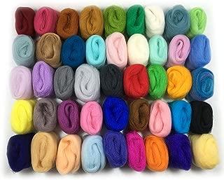 羊毛フェルト ウール フェルト 手芸材料 45色/3g カラバリ豊富 初心者様に お試しセット