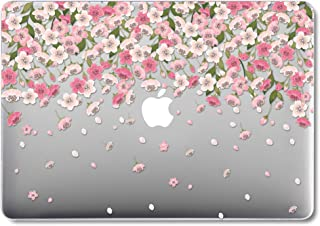 GMYLE MacBook Pro 13 Case with Retina Display No CD-ROM (A1502/A1425, Version 2015/2014/2013/end 2012), Plastic Hard Clear Glossy Case Shell - Pink Flowers Cherry Blossom