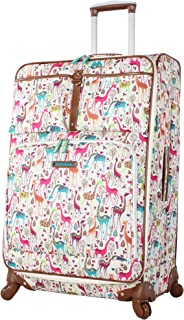 Luggage Large Expandable Design Pattern Suitcase With Spinner Wheels For Woman (28in, Giraffe Park)