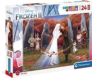 Clementoni 24217, Frozen 2 Supercolor Maxi Puzzle for Children - 24 pieces, Ages 3 years Plus